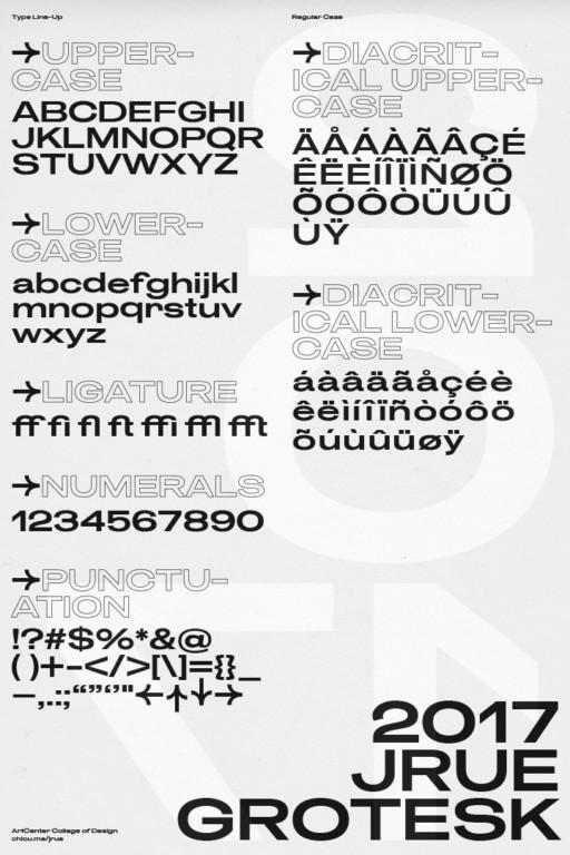 Andrew Chiou → Graphic Designer Jrue Grotesk